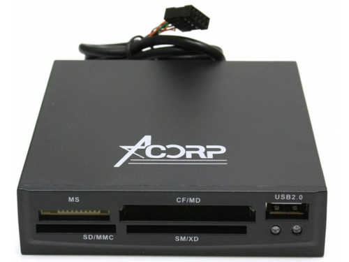 Устройство для чтения карт памяти Acorp CRIP200-Black, вид 1