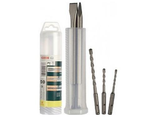 Набор сверл BOSCH 2607019455, для работ по бетону, сверла 5-8 мм и 2 зубила, SDS+, вид 1