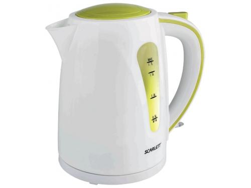 Чайник электрический Scarlett SC-EK18P13, белый/ салатовый, вид 1