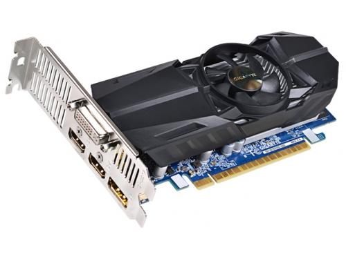 Видеокарта GeForce Gigabyte GeForce GTX 750Ti, 2Гб GDDR5, DVI-I / 2xHDMI / DP, низкопрофильная, (GV-N75TOC-2GL), вид 2