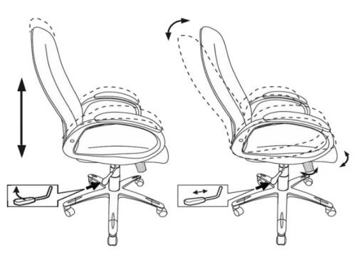 Компьютерное кресло Бюрократ T-700DG/OR-17, серое, вид 6
