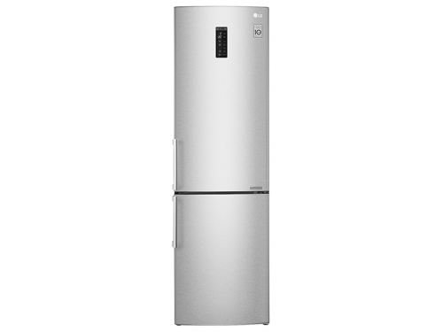 Холодильник LG GA-B499YAQZ, серебристый, вид 1