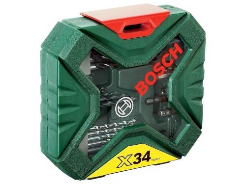 Набор сверл Bosch X-Line Classic, биты и свёрла + кейс, 34 предмета [2607010608], вид 1