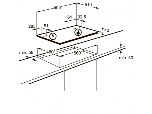 Варочная поверхность Electrolux GME263XX, вид 3