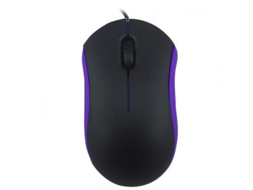 Мышь Ritmix ROM-111, черно-фиолетовая, вид 1