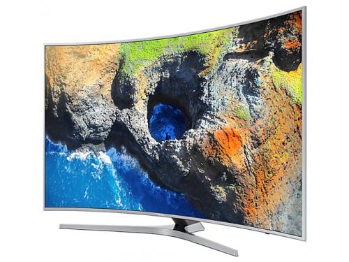 телевизор Samsung UE49MU6500U, Серебристый, вид 3