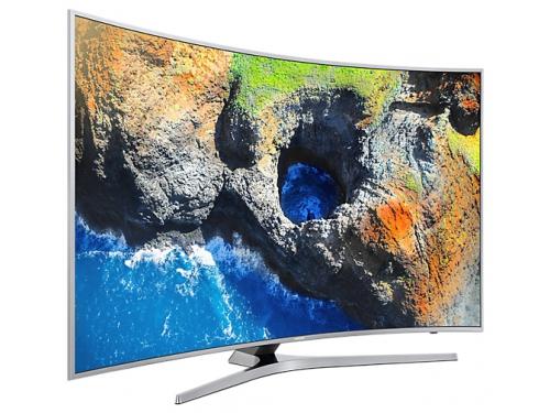 телевизор Samsung UE49MU6500U, Серебристый, вид 4