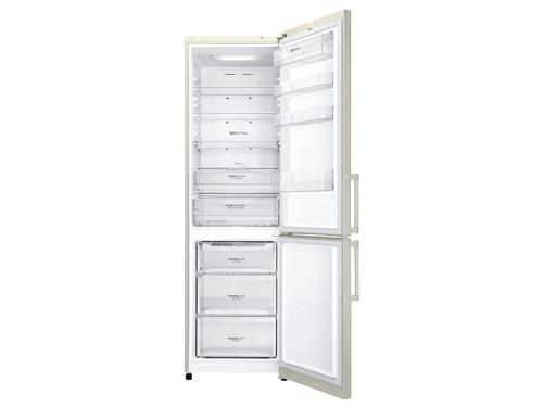Холодильник LG GA-B499YEQZ, бежевый, вид 1