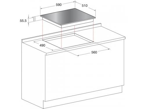 Варочная поверхность Hotpoint-Ariston KIC 644 C (CF), вид 2