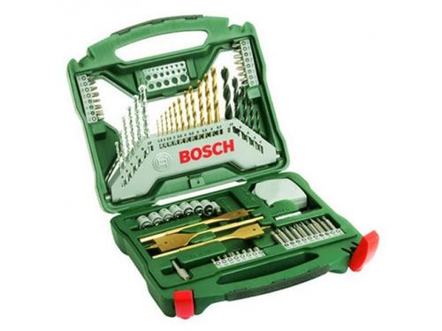 Набор инструментов Bosch X-Line 70 Ti (2607019329), биты и свёрла, 70 предметов, вид 1