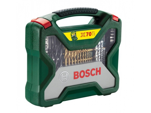 Набор инструментов Bosch X-Line 70 Ti (2607019329), биты и свёрла, 70 предметов, вид 2