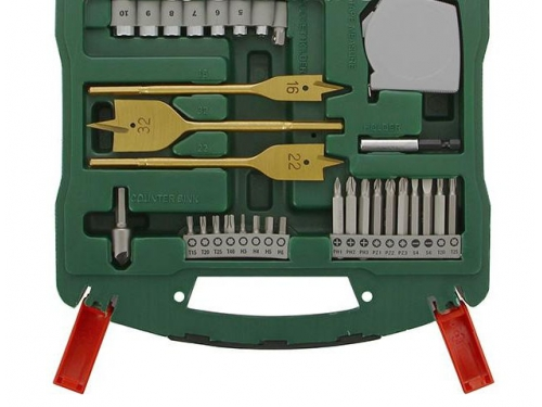 Набор инструментов Bosch X-Line 70 Ti (2607019329), биты и свёрла, 70 предметов, вид 4