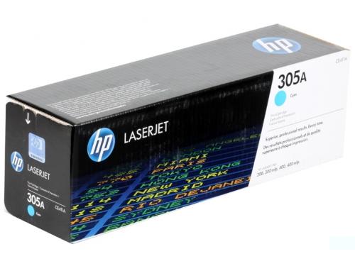 Картридж HP 305A Голубой (CE411A, 2600 стр., для HP CLJ Color M351/M451/MFP M375/MFP M475), вид 1