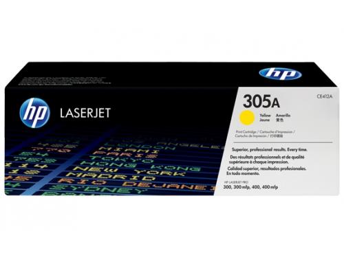 �������� HP 305A (CE412A) ������ (2600 ���., ��� HP LJ Pro 300 color MFP M375nw, 400 color MFP M475dn/dw, 400 color Printer M451dn/dw/nw), ��� 1