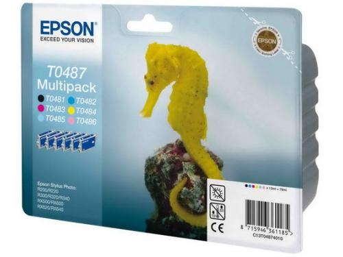 Картридж EPSON T0487 для R200/300/RX500/600 (B, C, M, Y, LC, LM) 6-pack, вид 1