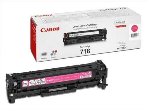 Картридж Canon 718 M, пурпурный, вид 1