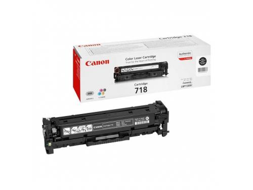 Картридж Canon 718 BK, Черный, вид 1