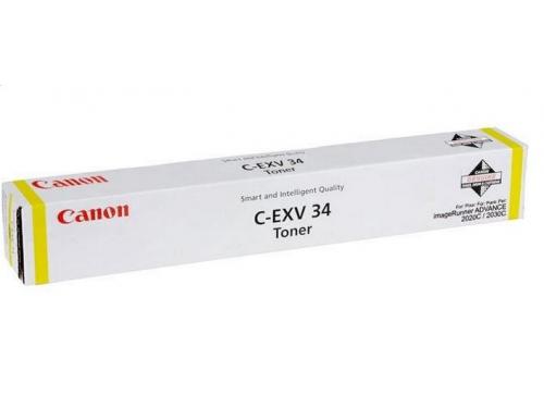 Картридж Canon C-EXV 34 Y, Жёлтый, вид 1
