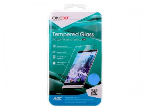 Защитное стекло для смартфона Onext для Samsung Galaxy A7 2017 (с белой рамкой), вид 1