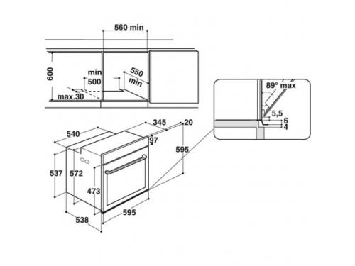 Духовой шкаф Hotpoint-Ariston 7OFI4 851 SH IX HA, электрический, нерж.сталь, вид 3