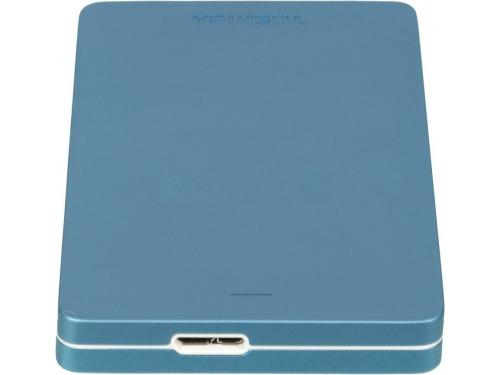 Жесткий диск Toshiba CANVIO ALU 1TB, голубой (HDTH310EL3AA), вид 2