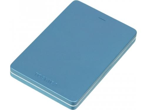 Жесткий диск Toshiba CANVIO ALU 500GB, синий, вид 1