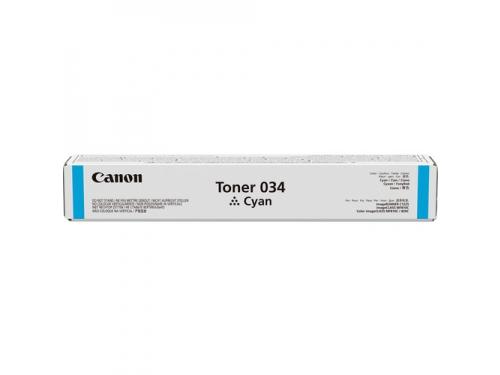 Картридж Canon 034 C (тонер) Голубой, вид 1