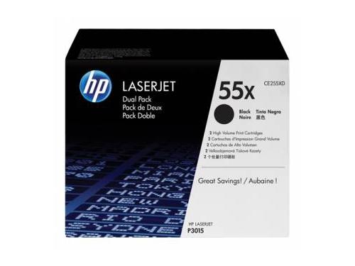 Картридж HP 55X Черный (увеличенной емкости) [упаковка 2шт.], вид 1