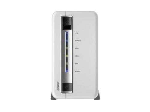 Сетевой накопитель QNAP TS-212P, на 2 диска, вид 2