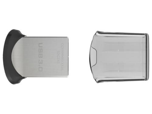 Usb-флешка SanDisk Ultra Fit USB 3.0 128GB, черная, вид 1