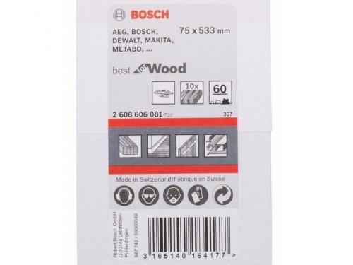 Шлифмашина Набор шлифовальных лент BOSCH 2608606080 (75 x 533 мм, 40 Grit), 10 шт., вид 2