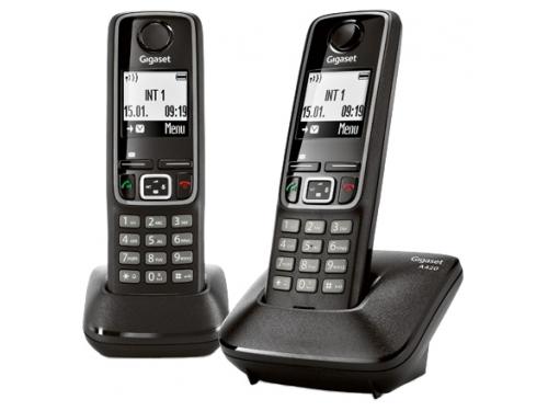 Радиотелефон DECT Gigaset A420 DUO Черный, вид 1