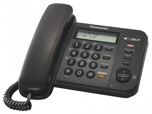 Проводной телефон Panasonic KX-TS2358RUB Черный, вид 1