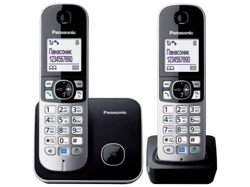 Радиотелефон DECT Panasonic KX-TG6812RUB Черный/Серебристый, вид 1