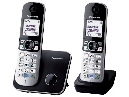 Радиотелефон DECT Panasonic KX-TG6812RUB Черный/Серебристый, вид 2