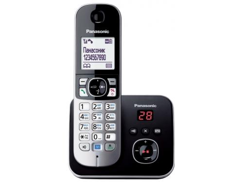 Радиотелефон DECT Panasonic KX-TG6821RUB Черный/Серебристый, вид 1