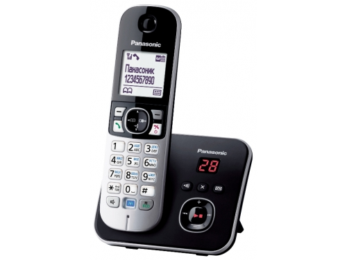 Радиотелефон DECT Panasonic KX-TG6821RUB Черный/Серебристый, вид 2
