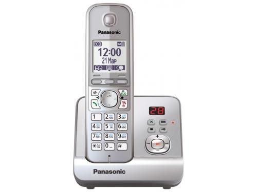 Радиотелефон DECT Panasonic KX-TG6721RUS Серебристый, вид 1