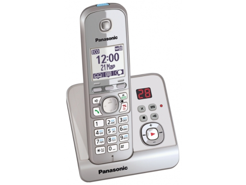 Радиотелефон DECT Panasonic KX-TG6721RUS Серебристый, вид 2