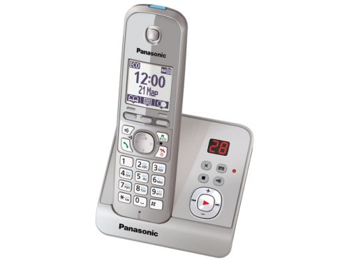 Радиотелефон DECT Panasonic KX-TG6721RUS Серебристый, вид 3