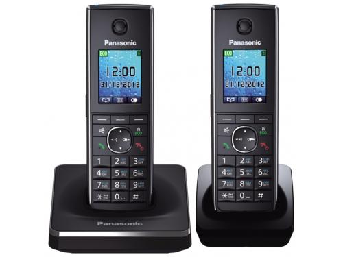 Радиотелефон DECT Panasonic KX-TG8552RUB Черный, вид 1