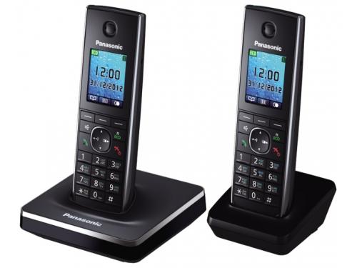 Радиотелефон DECT Panasonic KX-TG8552RUB Черный, вид 2