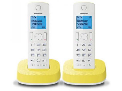 Радиотелефон DECT Panasonic KX-TGС312RUR Белый/Жёлтый, вид 1