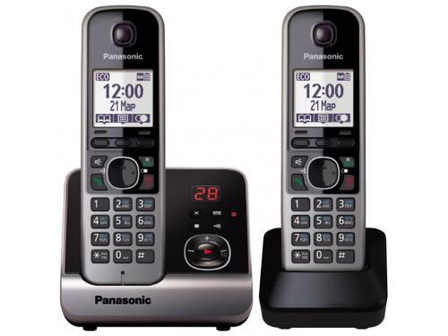 Радиотелефон DECT Panasonic KX-TG6722RUB Черный, вид 1