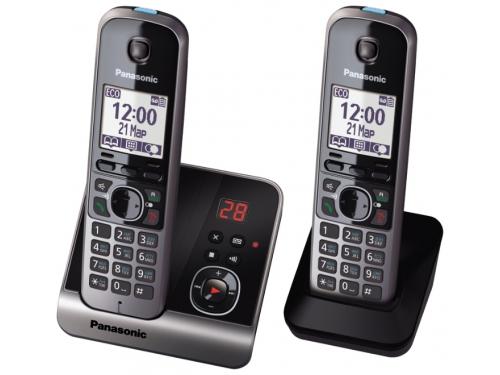 Радиотелефон DECT Panasonic KX-TG6722RUB Черный, вид 2