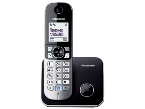 Радиотелефон DECT Panasonic KX-TG6811RUB Чёрный/Серебристый, вид 1