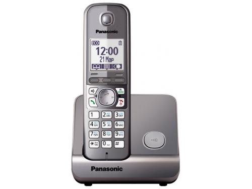 Радиотелефон DECT Panasonic KX-TG6711RUM Серый металлик, вид 1