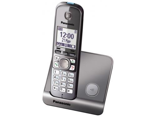 Радиотелефон DECT Panasonic KX-TG6711RUM Серый металлик, вид 2