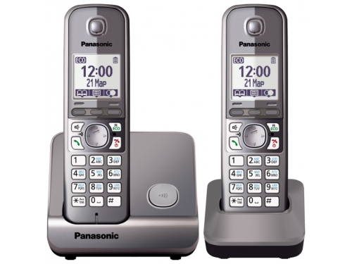 Радиотелефон DECT Panasonic KX-TG6712RUM Серый металлик, вид 1