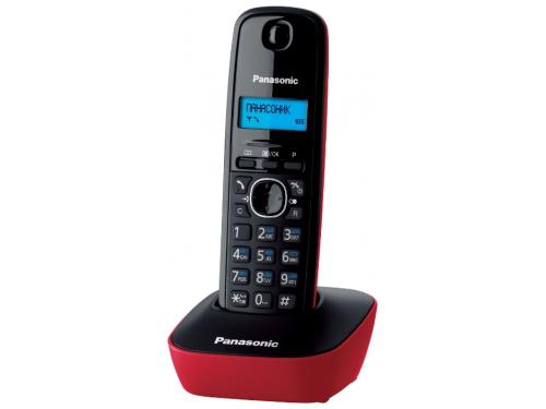 Радиотелефон DECT Panasonic KX-TG1611RUR Красный/Черный, вид 1